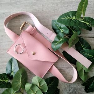 Handbags - NWOT belt bag fanny pack pink black